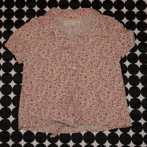 Girls Zara Floral Print Short Sleeve Top Woven 8